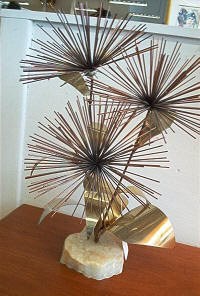 Brass/Quartz Modernist Sculpture - Antique Dealers Great Barrington, MA